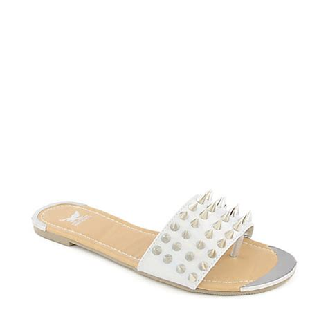 shiekh sandals shiekh 092 silver flat sandal