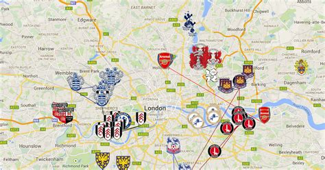 map uk football clubs football clubs home is where the is
