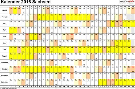Kalender 201 Mit Feiertagen Kalender 2016 Sachsen Ferien Feiertage Pdf Vorlagen