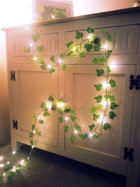 vintage mini christmas lights green ivy leaf garland mini led fairy string lights