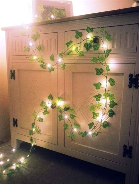 Green Ivy leaf garland mini led fairy string lights