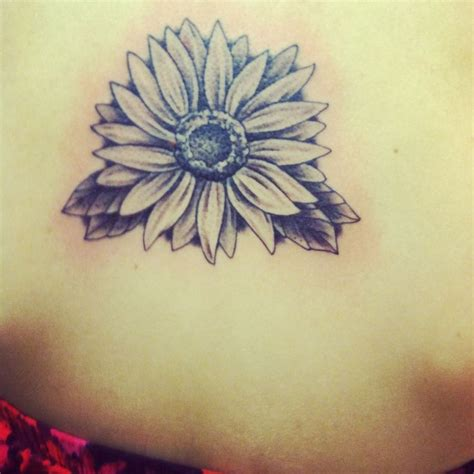 black and white sunflower tattoo black and gray sunflower done in ga