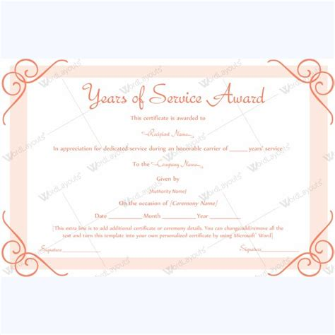 years of service award template 13 best years of service award images on award