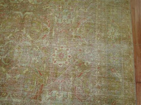 shabby chic antique rug for sale at 1stdibs