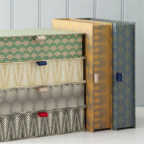 Handmade Decorative - colourful patterned boxfiles individually handmade to