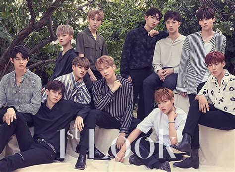 wanna one wanna one have their first ever photoshoot with 1st look