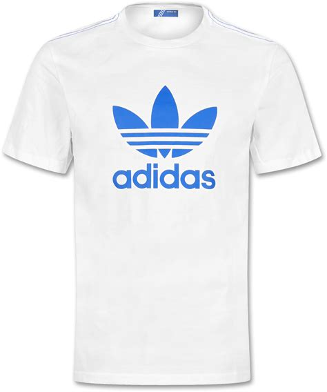 light blue adidas shirt adidas trefoil t shirt white blue