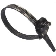 25 push mount cable tie imports 200mm length ital fastener
