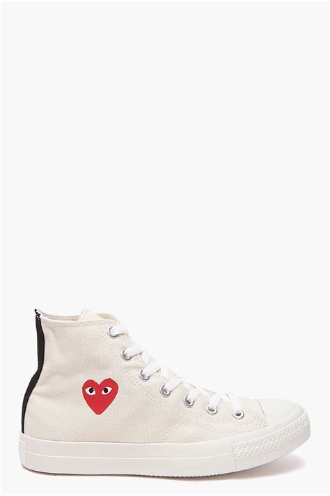 comme des garcons shoes mens play comme des gar 231 ons converse sneakers in