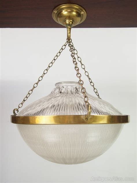 antiques atlas holophane prismatic ceiling light shade