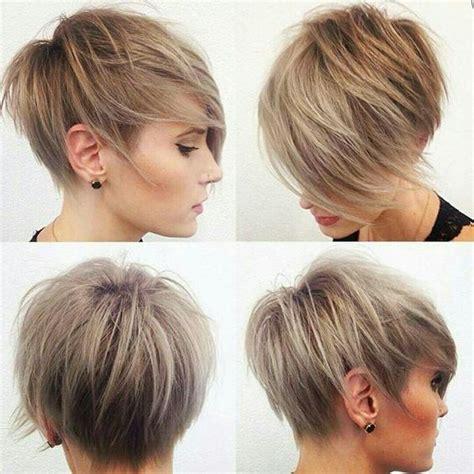caramel pixie cut caramel and ash blonde swept pixie cut cortes de cabelo