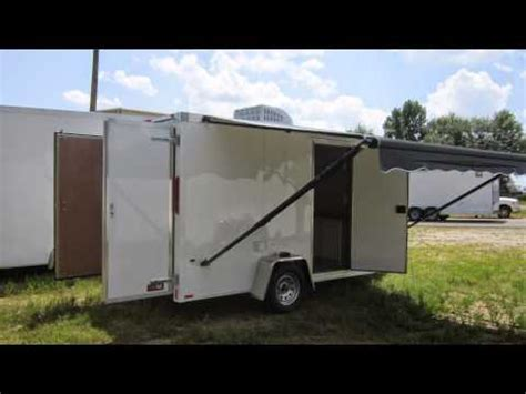 Cargo Trailer Awning by National Guard Cargo Trailer With Awning By Trailerlogic