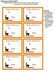 free printable halloween gift tags holiday party favors