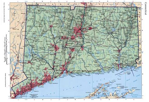 printable connecticut road map large detailed roads and highways map of connecticut state