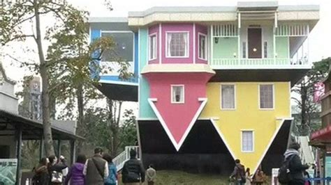 the upside down house a look inside taipei s upside down house bbc news