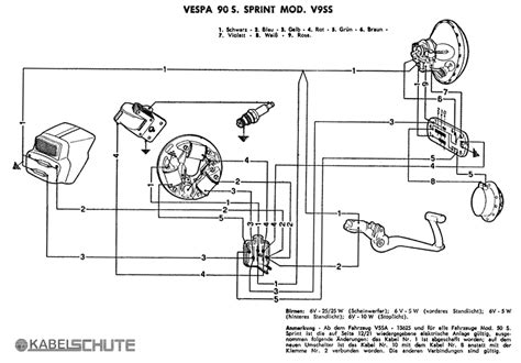 vespa sprint wiring diagram 12 volt conversion 12 volt 8n