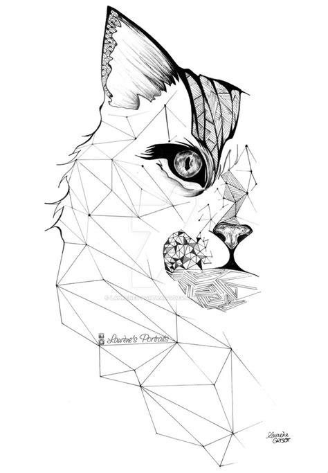 animal tattoo database geometric cat google search tattoo inspiration