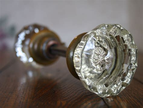 Glass Door Knobs Vintage Beautiful Set Of Antique Glass Door Knobs