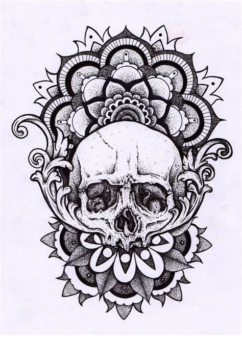 mandala head tattoo skull mandala tattoos