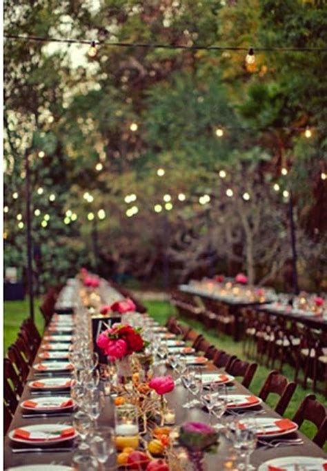 Backyard Dinner by Dinner Beautiful And Style