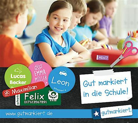 Namensetiketten Kita by Bild Gutmarkiert In Die Schule Starten Mit Lustigen