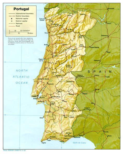 cartina porto portogallo mappa fisica