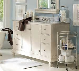 white vanity and custom storage ideas for small bathrooms