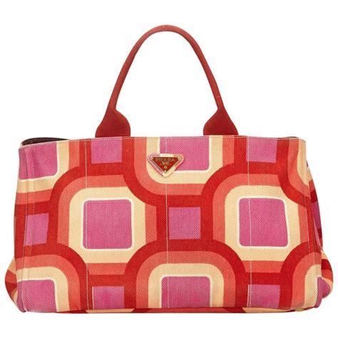 canapé retro prada retro printed canapa tote bag for sale at 1stdibs