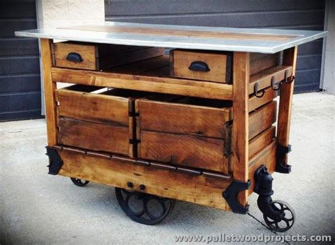 Kitchen Carts Islands pallet kitchen islands buffet tables pallet wood projects