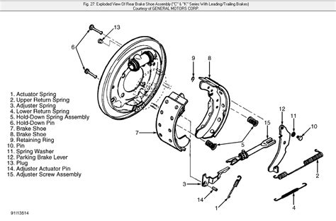 chevy drum brakes diagram need diagram of brakes and calipers of 1998 silverado