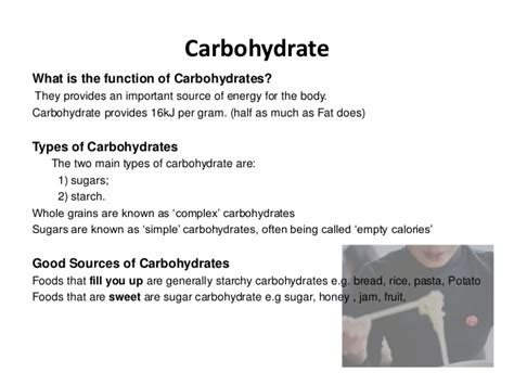 e g of carbohydrates nutrients the basics