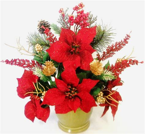 95 best christmas silk flower arrangements images on