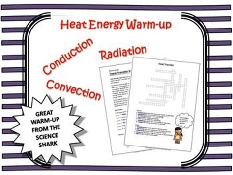 conduction coloring page crossword answer key heat transfer warm up crossword puzzle heat transfer
