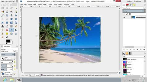 Tutorial Gimp En Pdf | how to save pdf in gimp youtube