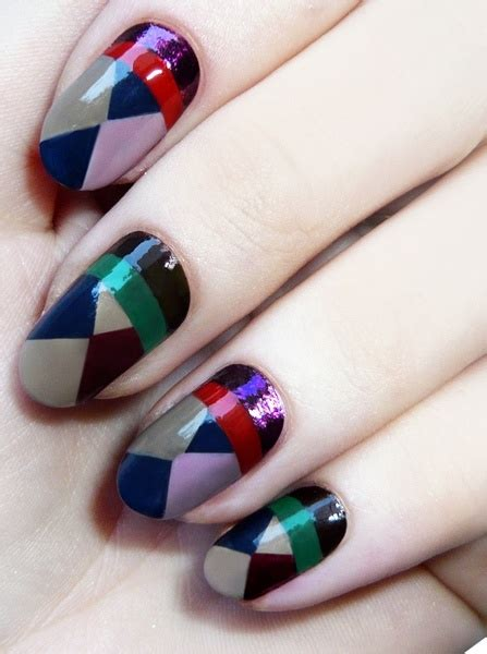 geometric pattern nail art fall nail art design ideas glam radar