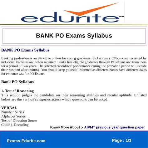 po bank bank po exams syllabus by gaurav saini issuu