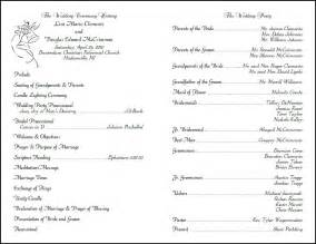 Ceremony Program Template by Best Photos Of Wedding Program Format Sle Wedding