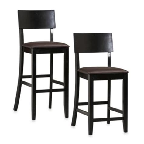 bar stool covers bed bath beyond linon home contemporary 24 inch counter stool