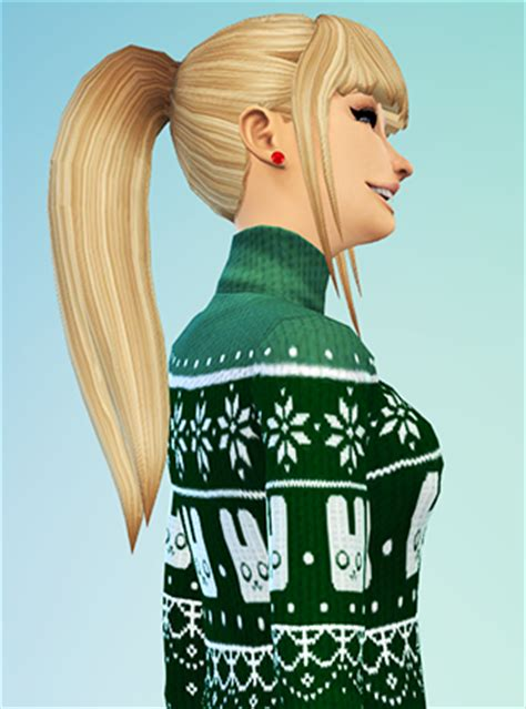 sims 4 ponytails with bangs my sims 4 blog ponytail with bangs by simsticle