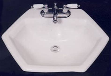 hexagon bathroom sink lavy bar sinks benjamin mfg co