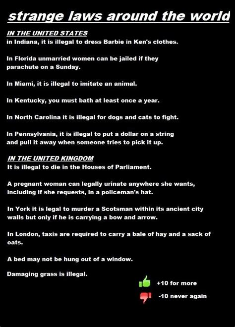 Strangest Laws In The World strange laws from around the world which one do you
