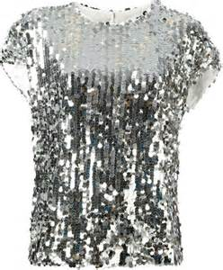 Silver sequin tops for women