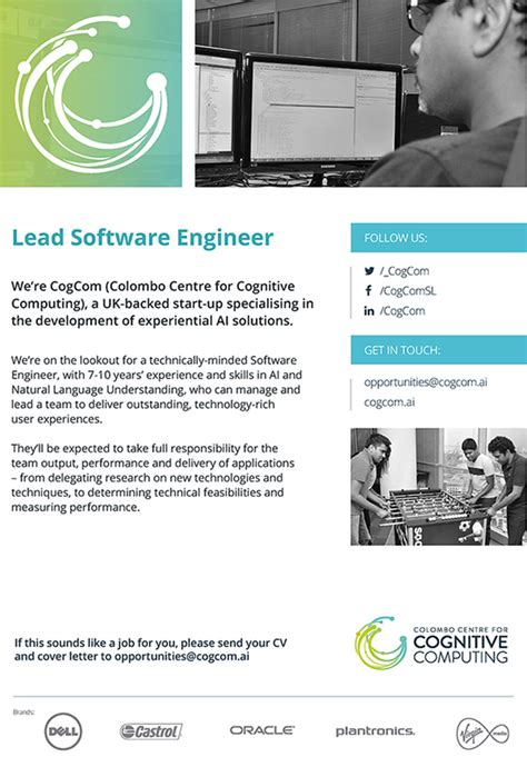 Lead Software Developer Cover Letter by Lead Software Developer Cover Letter Prisoner Officer Sle Resume