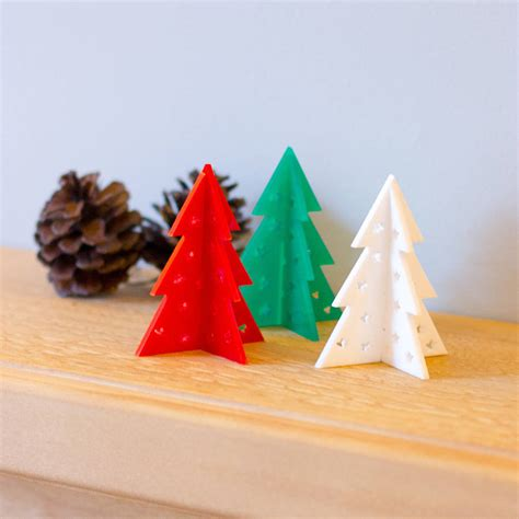 laser cut table top christmas tree decoration by finest