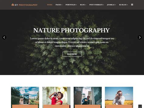 joomla photography template free et photography free joomla photography template freemium