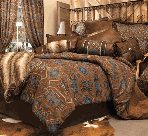 western king size comforter sets western bedding king size turquoise mesa bed set lone