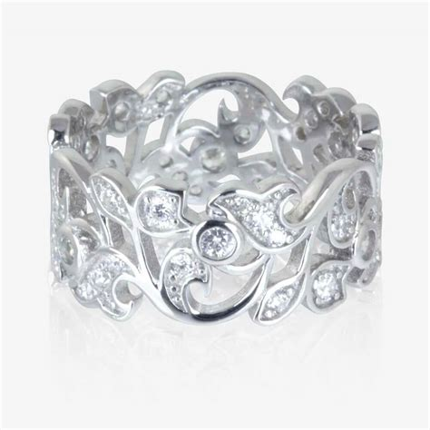 Silver Ring With Cubic Zirconia P 1008 carolina sterling silver diamonflash 174 cubic zirconia ring