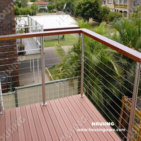 Balcony Banister Popular Outdoor Wood Railing From China Best Selling