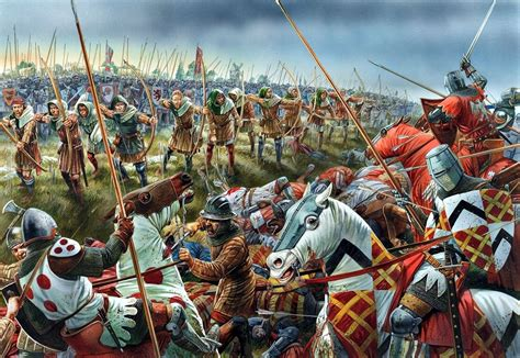 longbowman vs crossbowman hundred years war 1337 60 battle of crecy 1346 middle ages