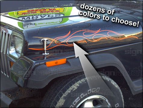 Jeep Graphics Decals Jeep Wrangler Tj Graphics Decals Rubicon Ebay